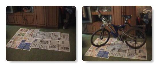 подготавливаем велосипед