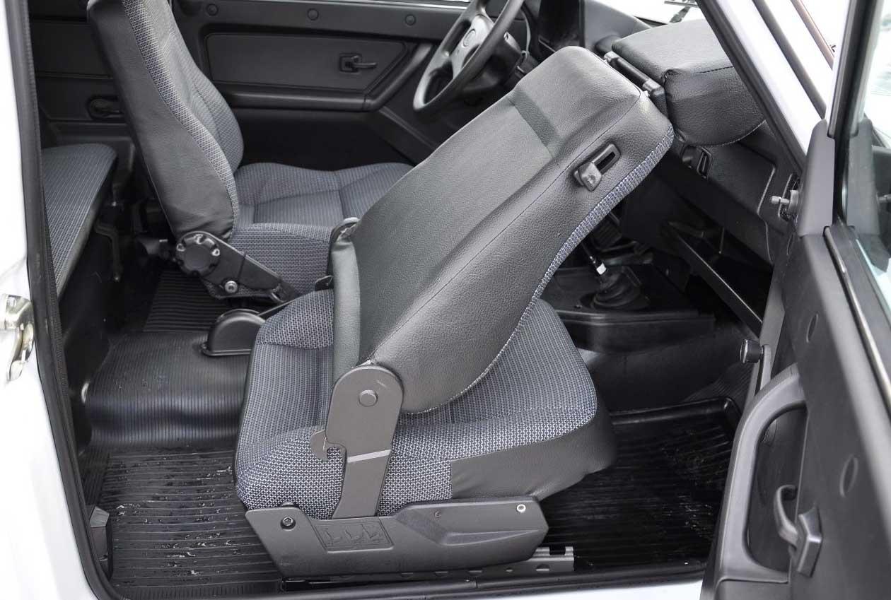 складывание передних сидений