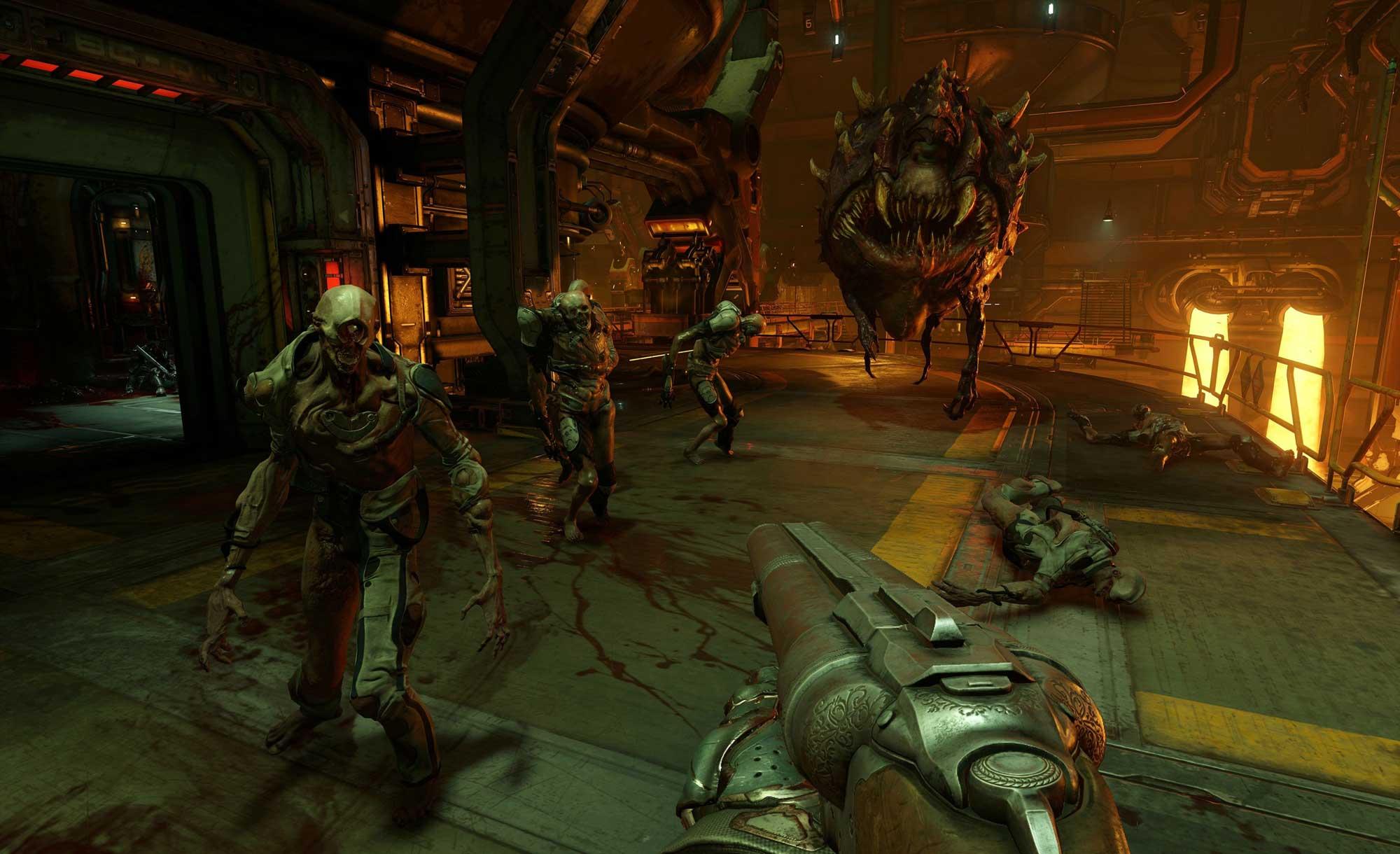 геймплей doom 4