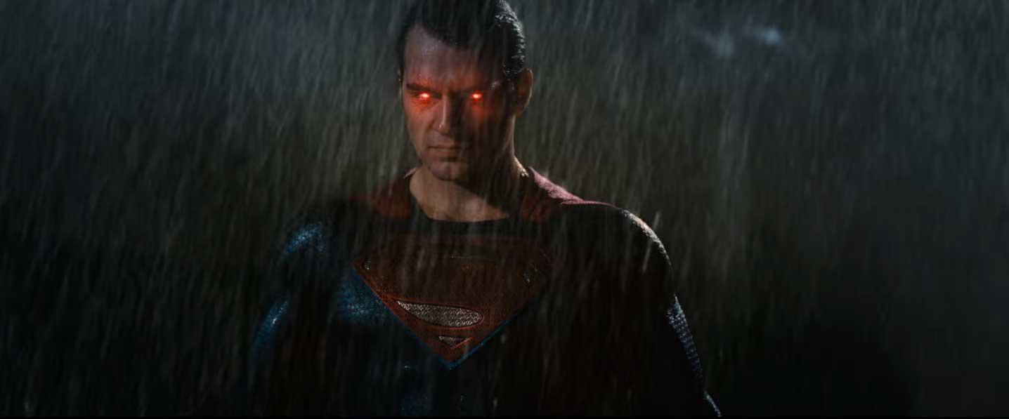 супермен и его огненный взгляд бэтмен против супермена