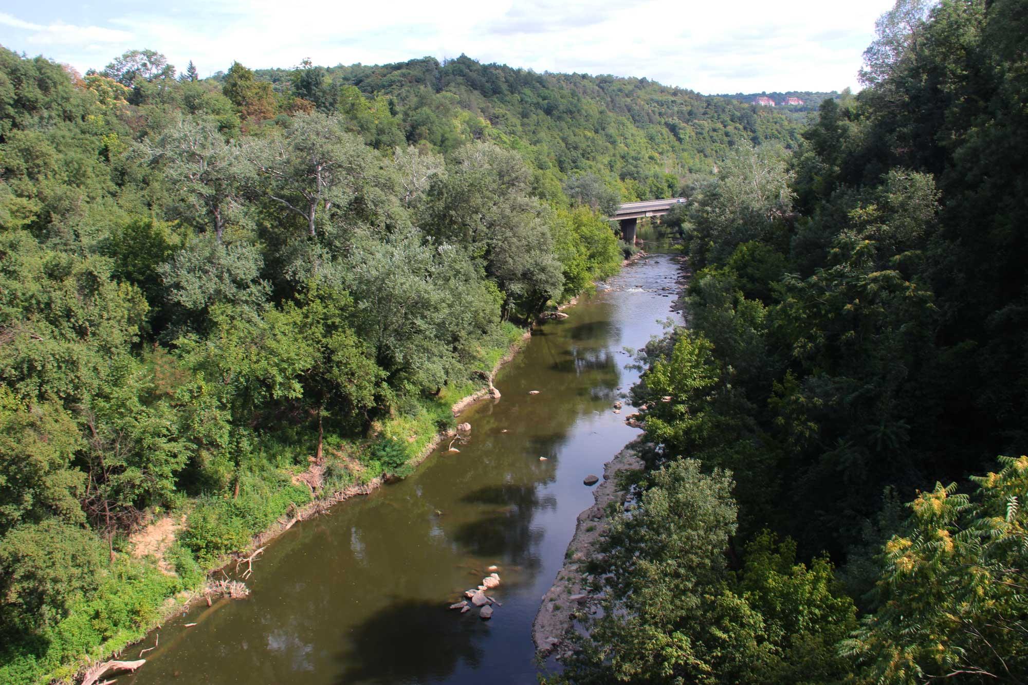вид на горную реку велико тырново