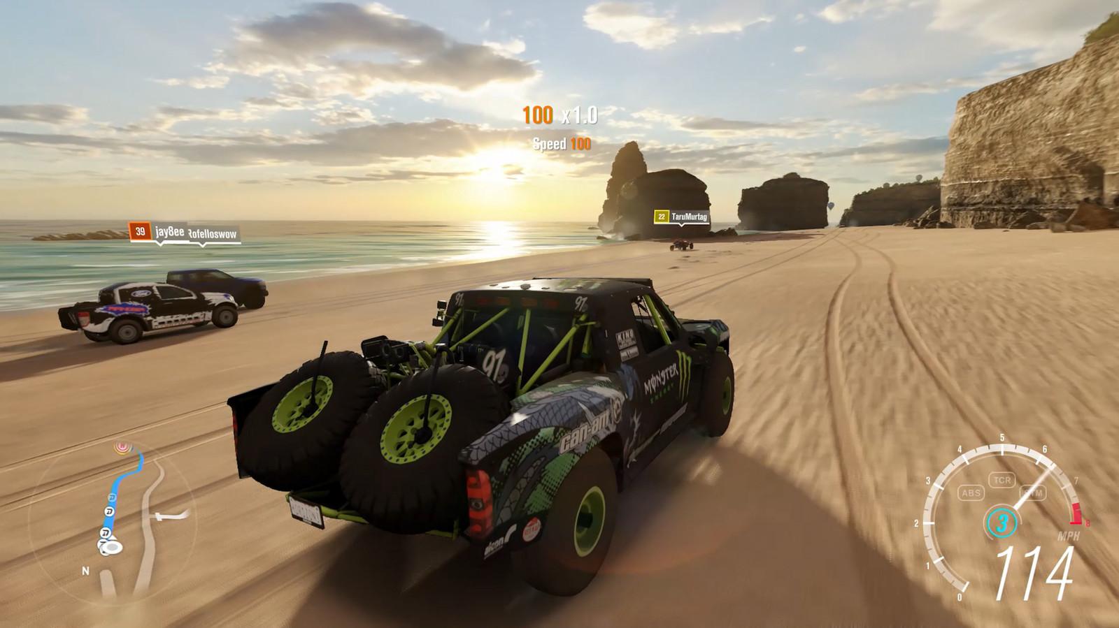 forza horizon 3 геймплей на пляже