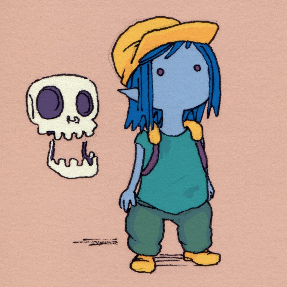 главная героиня и компаньон черепушка