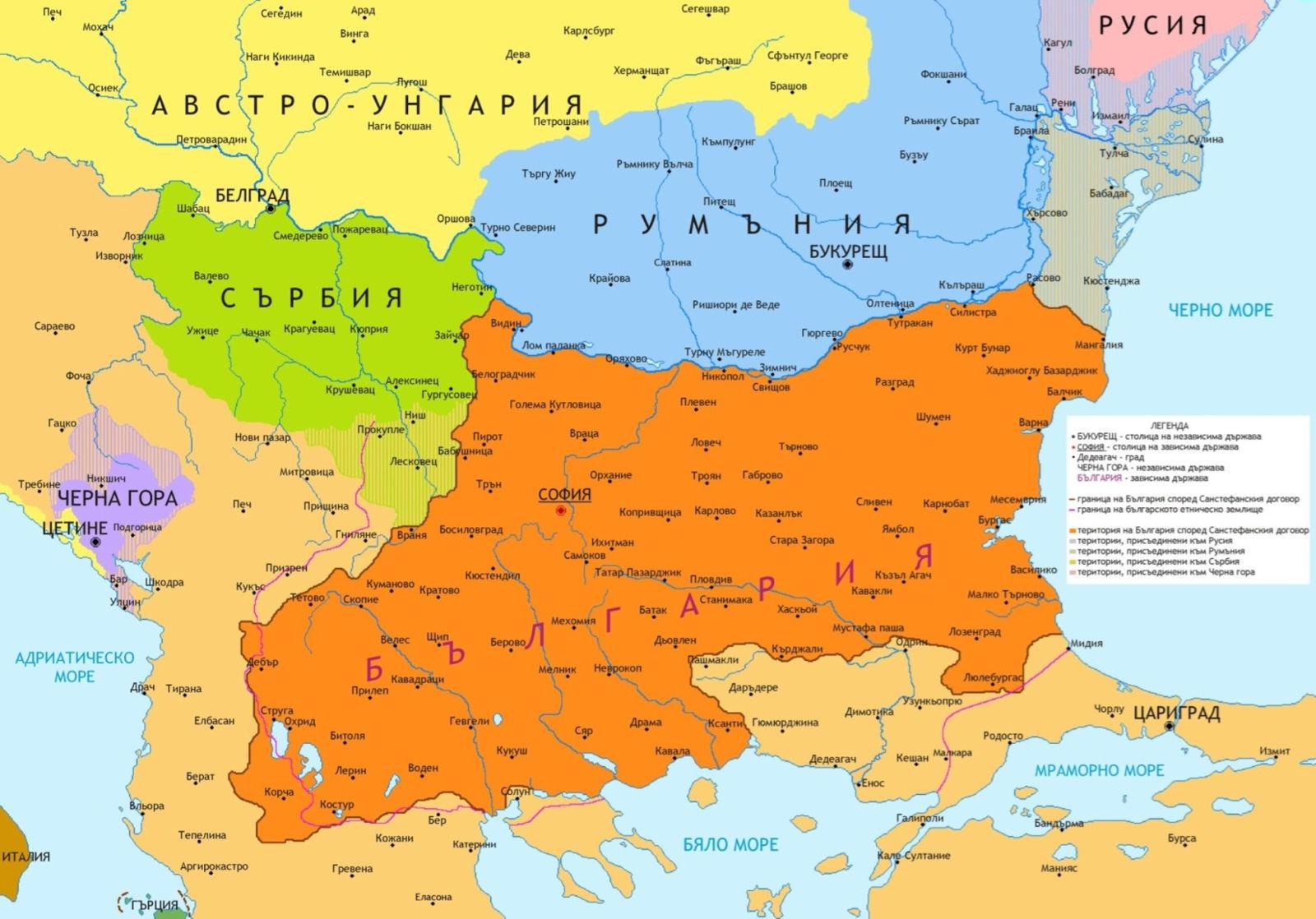 карта древней болгарии