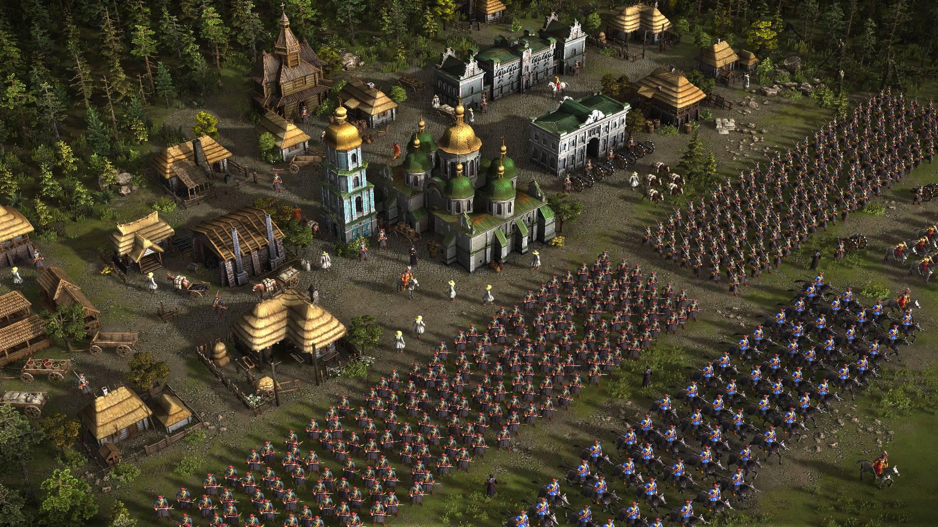 казаки 3 огромная армия на защите города