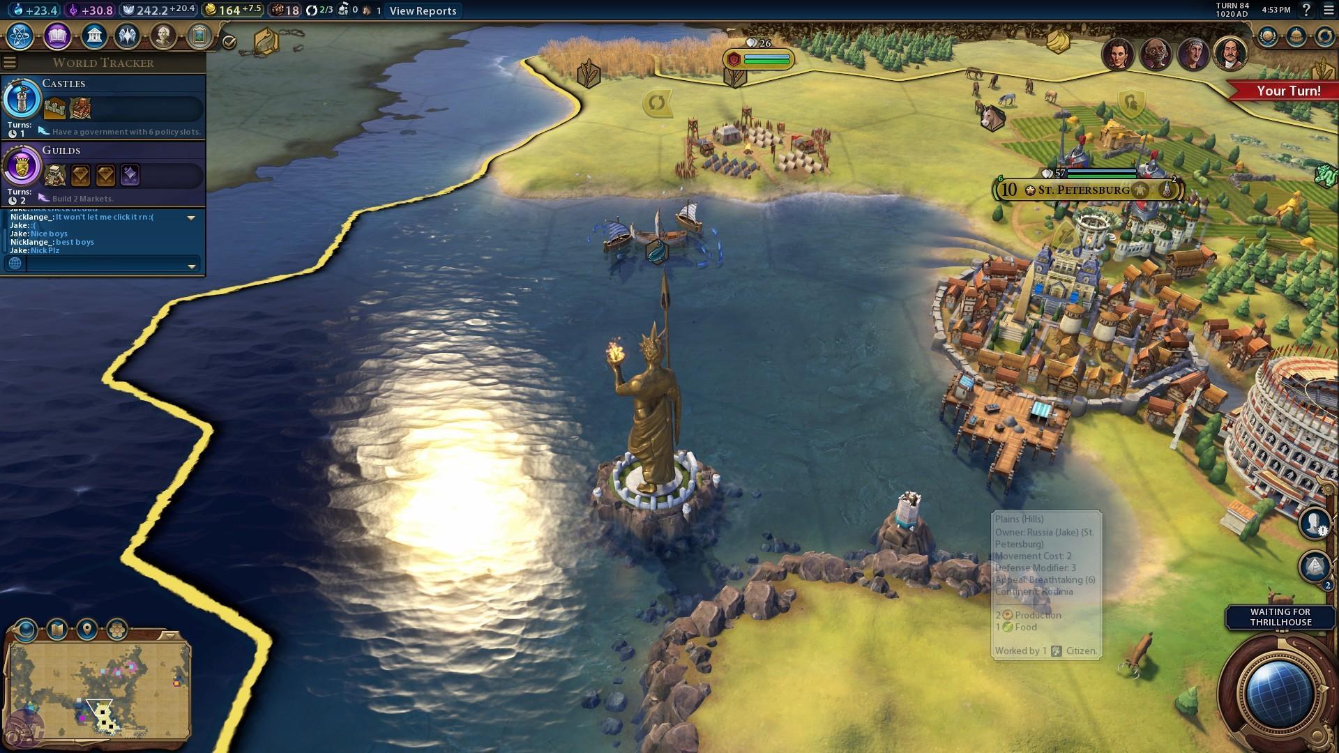 civilization 6 красочный игровой мир