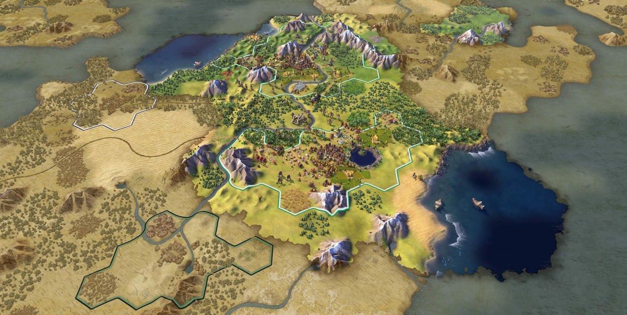 civilization 6 новый вид карты