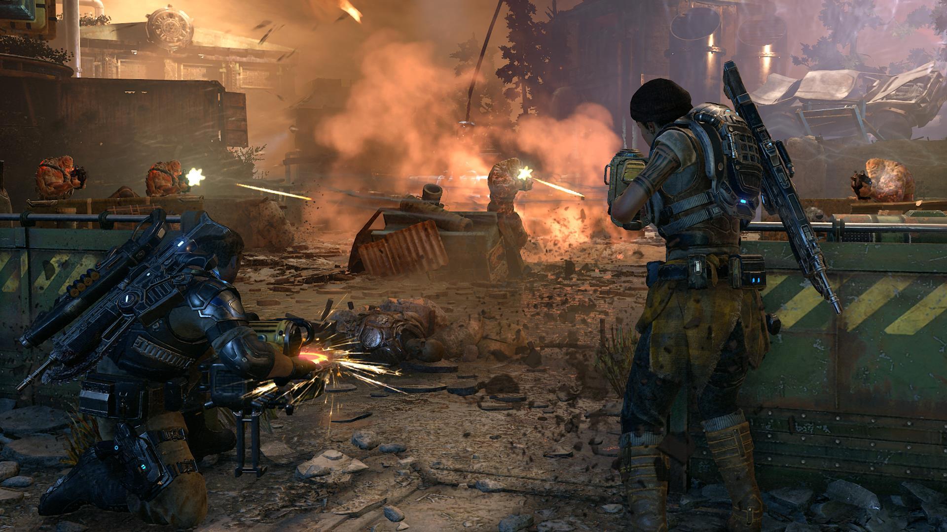 gears of war 4 насыщенные деталями бои