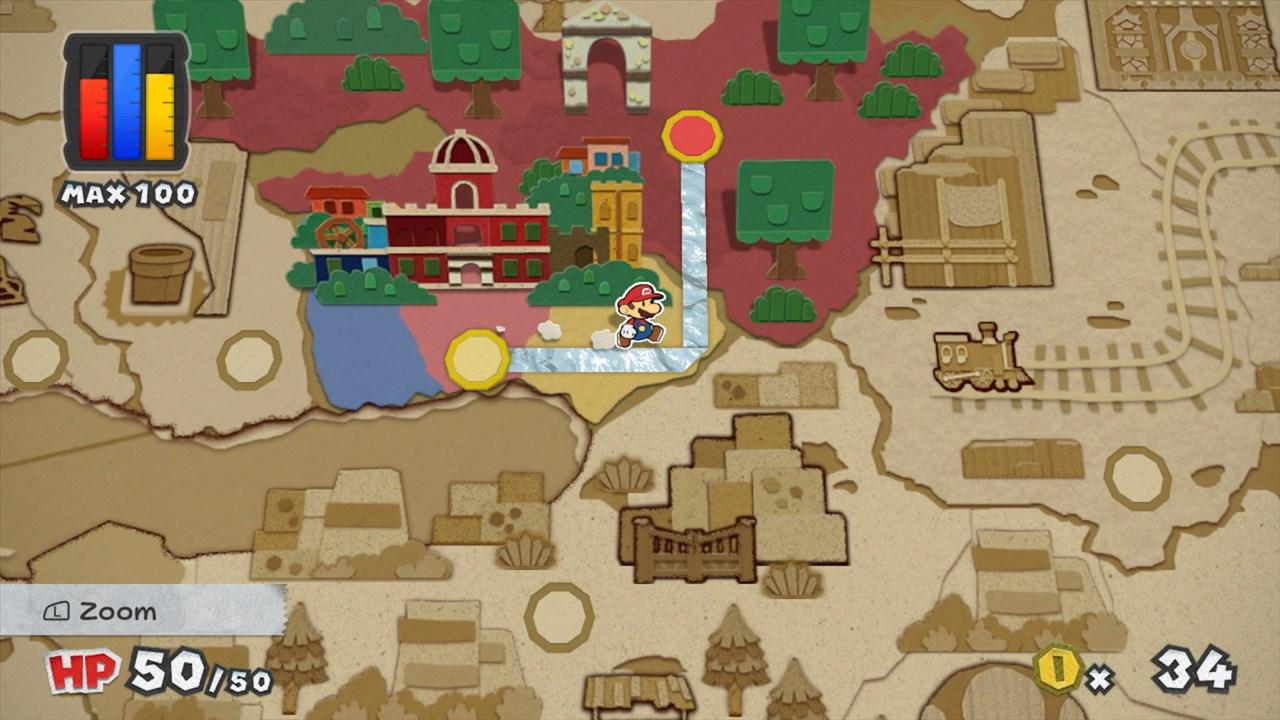 paper mario color splash экран карты