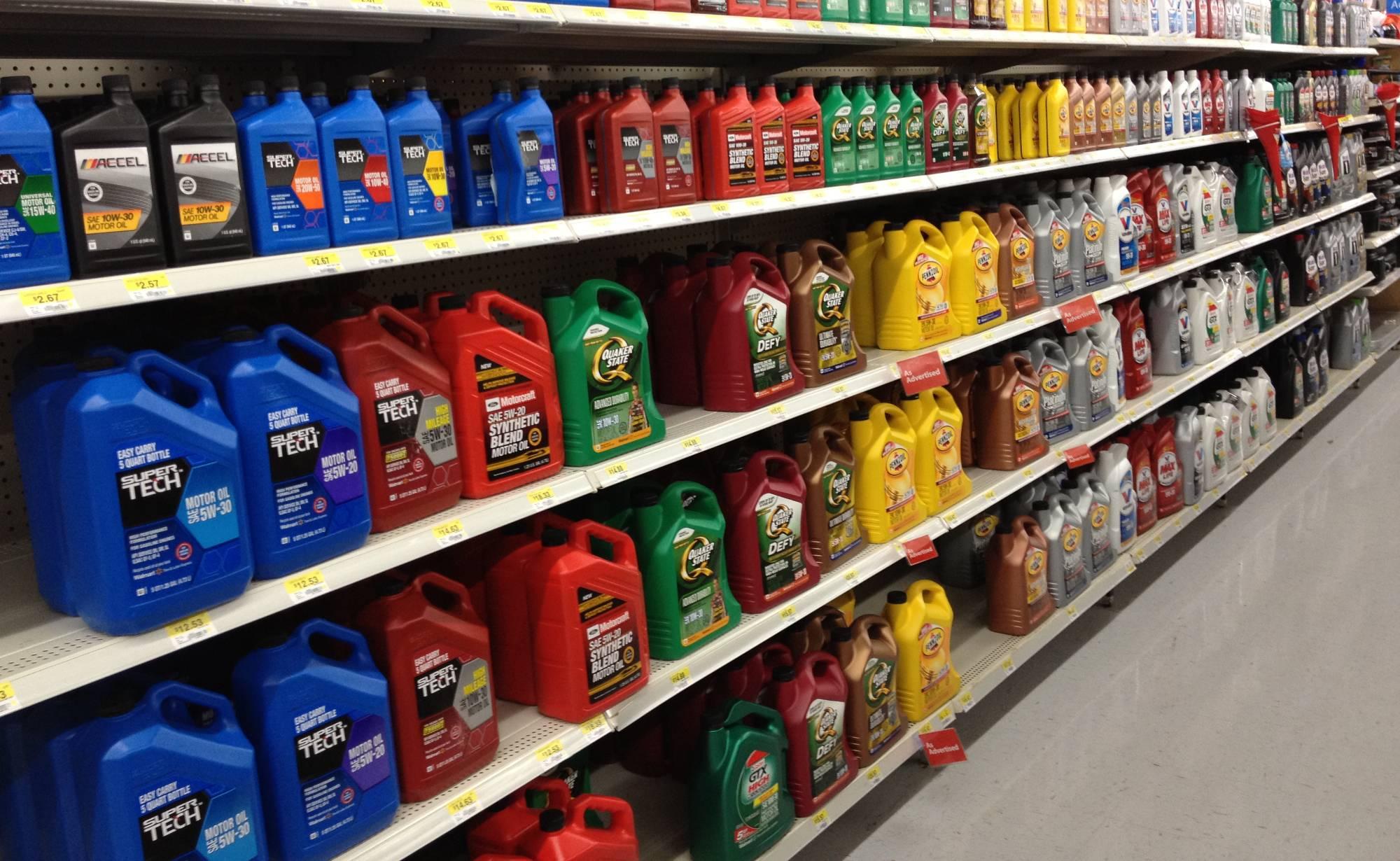 выбор масла в магазине из всего многообразия