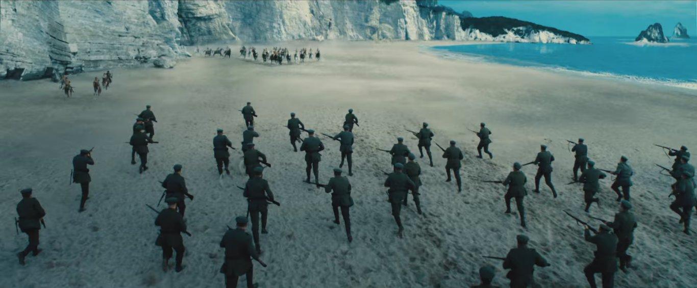 военные действия начинаются сразу на острове