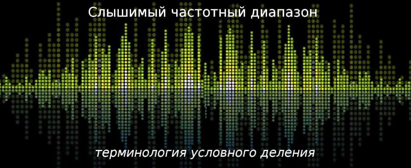 частотный диапазон звука