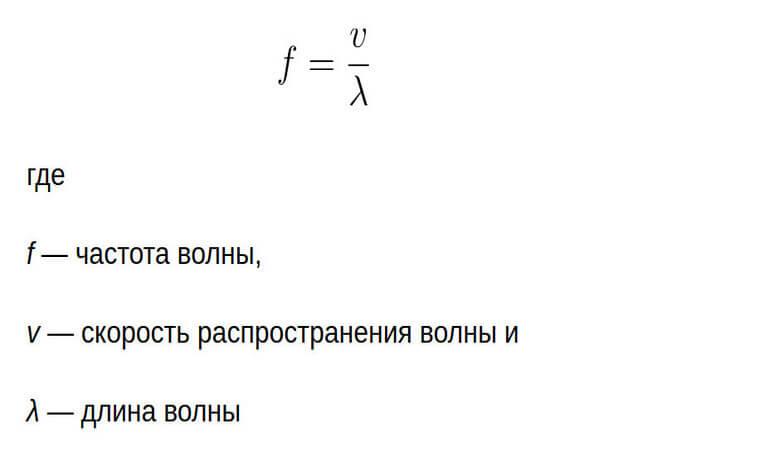 частота волны формула