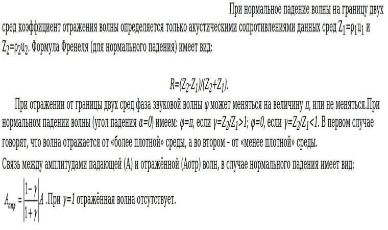 формула падение волны на поверхность