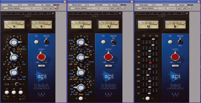 Waves API 550A и 550B